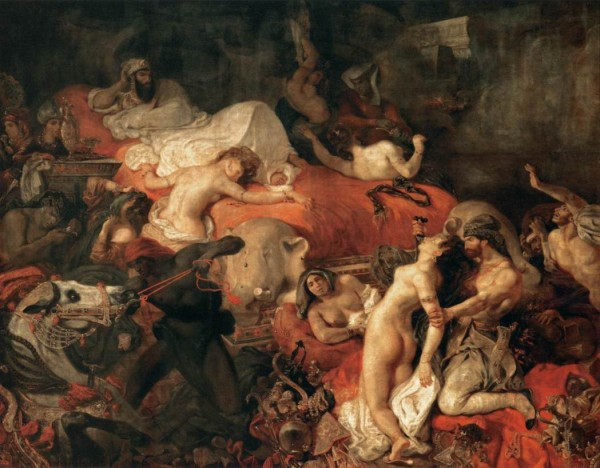 Eugène Delacroix, The Death of Sardanapalus, 1827