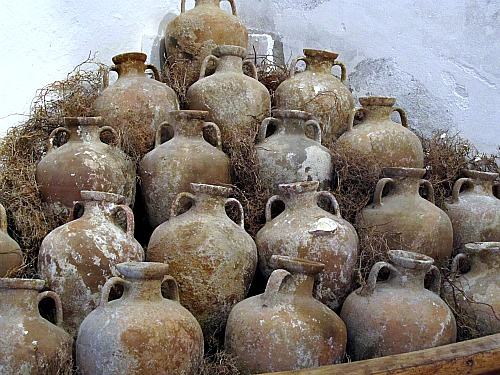 Amphorae at Bodrum castle in Turkey
