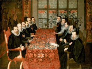 English and Spanish diplomats negotiate peace in 1604