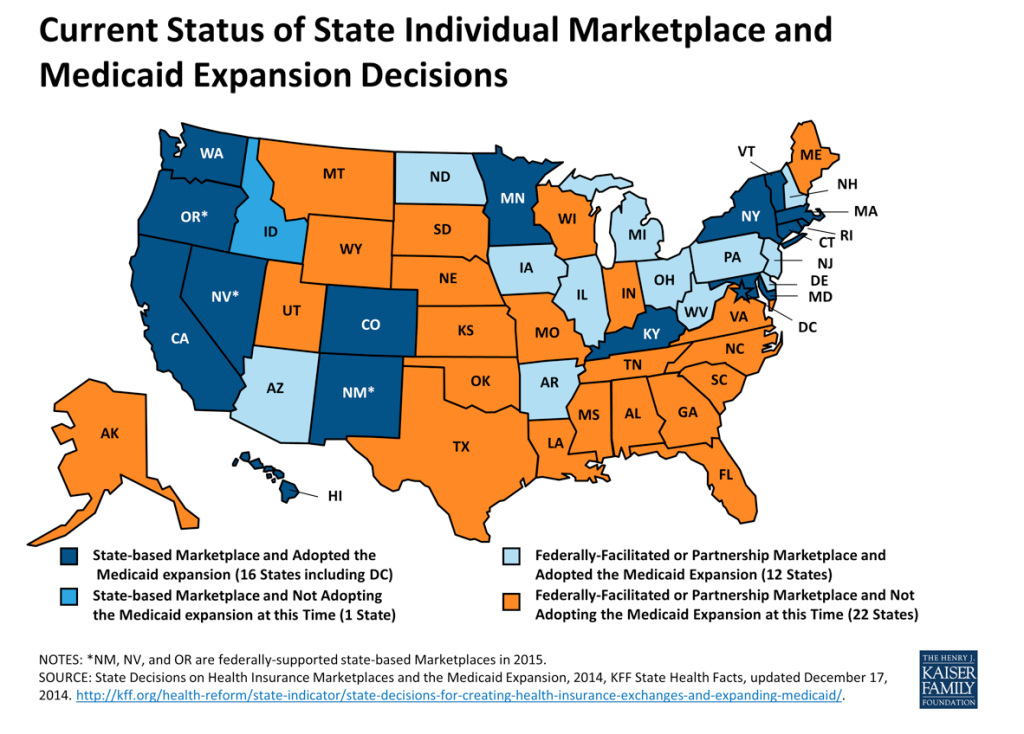 Washington Monthly This WeirdLooking Medicaid Expansion Map - Weird maps of the us