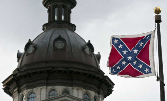 A Confederate flag flies outside the South Carolina State House in Columbia