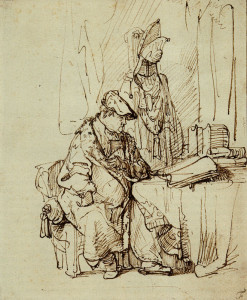 Rembrandt, The Actor Willem Ruyter as St. Augustine, 1638