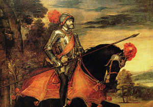 Emperor on horseback, by Titian