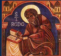 Bede writes history, 8th century