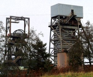 Closed coal mine in England